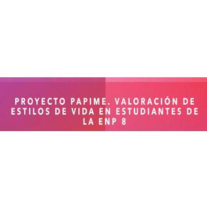 Logo de PAPIME de la Escuela Nacional Preparatoria plantel no. 8